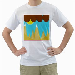 Abstract Landscape  Men s T-shirt (white) (two Sided) by Valentinaart