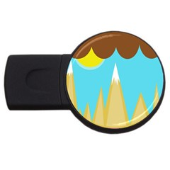 Abstract Landscape  Usb Flash Drive Round (2 Gb)  by Valentinaart