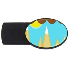 Abstract Landscape  Usb Flash Drive Oval (2 Gb)  by Valentinaart