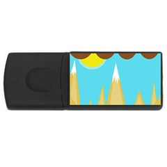 Abstract Landscape  Usb Flash Drive Rectangular (4 Gb)  by Valentinaart