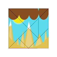 Abstract Landscape  Acrylic Tangram Puzzle (4  X 4 ) by Valentinaart