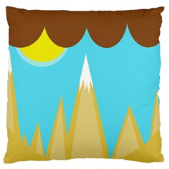 Abstract Landscape  Large Cushion Case (one Side) by Valentinaart