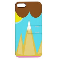 Abstract Landscape  Apple Iphone 5 Hardshell Case With Stand by Valentinaart
