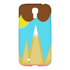 Abstract Landscape  Samsung Galaxy S4 I9500/i9505 Hardshell Case by Valentinaart