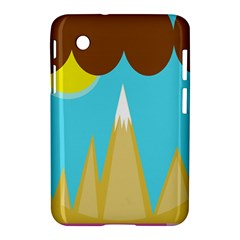 Abstract Landscape  Samsung Galaxy Tab 2 (7 ) P3100 Hardshell Case  by Valentinaart