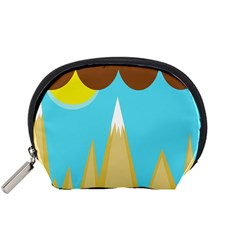 Abstract Landscape  Accessory Pouches (small)  by Valentinaart