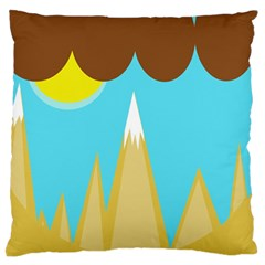 Abstract Landscape  Large Flano Cushion Case (one Side) by Valentinaart