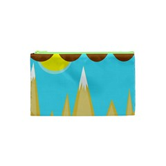 Abstract Landscape  Cosmetic Bag (xs) by Valentinaart