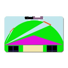 Abstract Landscape  Magnet (rectangular) by Valentinaart