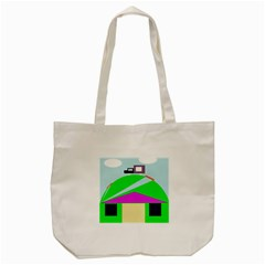 Abstract Landscape  Tote Bag (cream) by Valentinaart