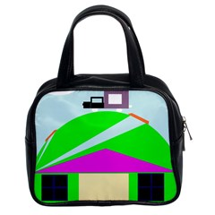 Abstract Landscape  Classic Handbags (2 Sides) by Valentinaart