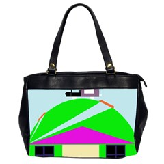 Abstract Landscape  Office Handbags (2 Sides)  by Valentinaart