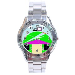 Abstract Landscape  Stainless Steel Analogue Watch by Valentinaart