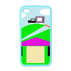 Abstract Landscape  Apple Iphone 4 Case (color) by Valentinaart