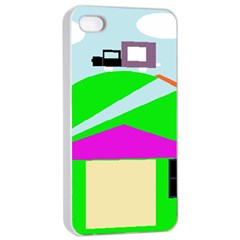 Abstract Landscape  Apple Iphone 4/4s Seamless Case (white) by Valentinaart