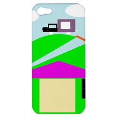 Abstract Landscape  Apple Iphone 5 Hardshell Case by Valentinaart