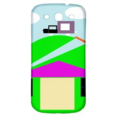 Abstract Landscape  Samsung Galaxy S3 S Iii Classic Hardshell Back Case by Valentinaart