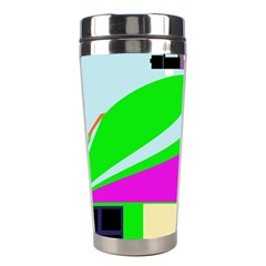 Abstract Landscape  Stainless Steel Travel Tumblers by Valentinaart