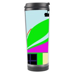 Abstract Landscape  Travel Tumbler by Valentinaart