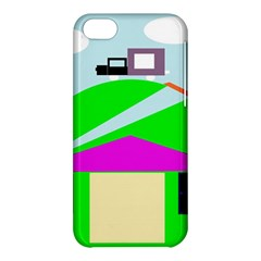 Abstract Landscape  Apple Iphone 5c Hardshell Case by Valentinaart