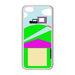 Abstract Landscape  Apple Iphone 5c Seamless Case (white) by Valentinaart