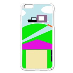 Abstract Landscape  Apple Iphone 6 Plus/6s Plus Enamel White Case by Valentinaart