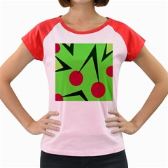 Cherries  Women s Cap Sleeve T Shirt by Valentinaart