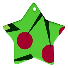 Cherries  Star Ornament (two Sides)