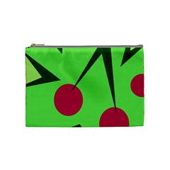 Cherries  Cosmetic Bag (medium)  by Valentinaart