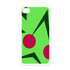 Cherries  Apple Iphone 4 Case (white) by Valentinaart