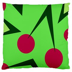Cherries  Large Cushion Case (one Side) by Valentinaart
