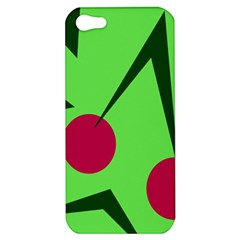 Cherries  Apple Iphone 5 Hardshell Case by Valentinaart