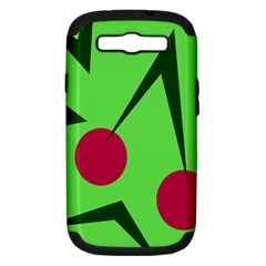 Cherries  Samsung Galaxy S Iii Hardshell Case (pc+silicone) by Valentinaart