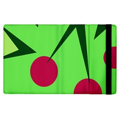 Cherries  Apple Ipad 3/4 Flip Case by Valentinaart