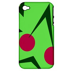 Cherries  Apple Iphone 4/4s Hardshell Case (pc+silicone) by Valentinaart