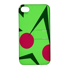 Cherries  Apple Iphone 4/4s Hardshell Case With Stand by Valentinaart