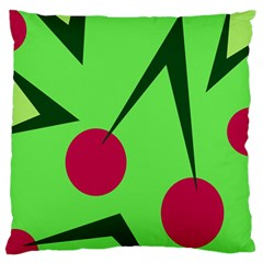 Cherries  Large Flano Cushion Case (two Sides) by Valentinaart