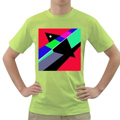 Abstract Fish Green T Shirt by Valentinaart