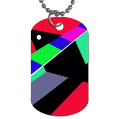 Abstract Fish Dog Tag (two Sides) by Valentinaart