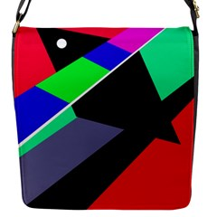 Abstract Fish Flap Messenger Bag (s) by Valentinaart