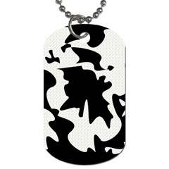 Black And White Elegant Design Dog Tag (two Sides) by Valentinaart