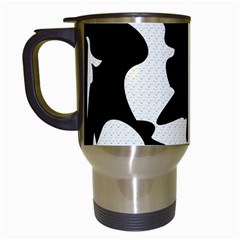 Black And White Elegant Design Travel Mugs (white) by Valentinaart