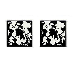 Black And White Elegant Design Cufflinks (square) by Valentinaart
