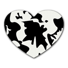 Black And White Elegant Design Heart Mousepads by Valentinaart