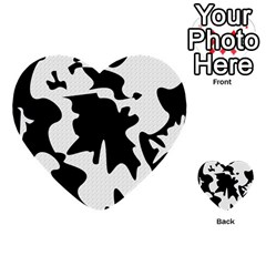 Black And White Elegant Design Multi Purpose Cards (heart)  by Valentinaart