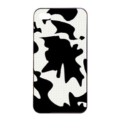 Black And White Elegant Design Apple Iphone 4/4s Seamless Case (black) by Valentinaart