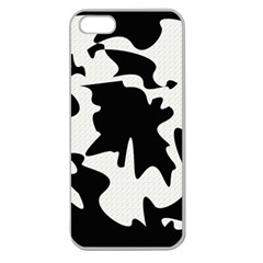 Black And White Elegant Design Apple Seamless Iphone 5 Case (clear) by Valentinaart