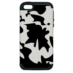 Black And White Elegant Design Apple Iphone 5 Hardshell Case (pc+silicone) by Valentinaart