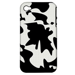 Black And White Elegant Design Apple Iphone 4/4s Hardshell Case (pc+silicone) by Valentinaart
