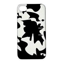 Black And White Elegant Design Apple Iphone 4/4s Hardshell Case With Stand by Valentinaart